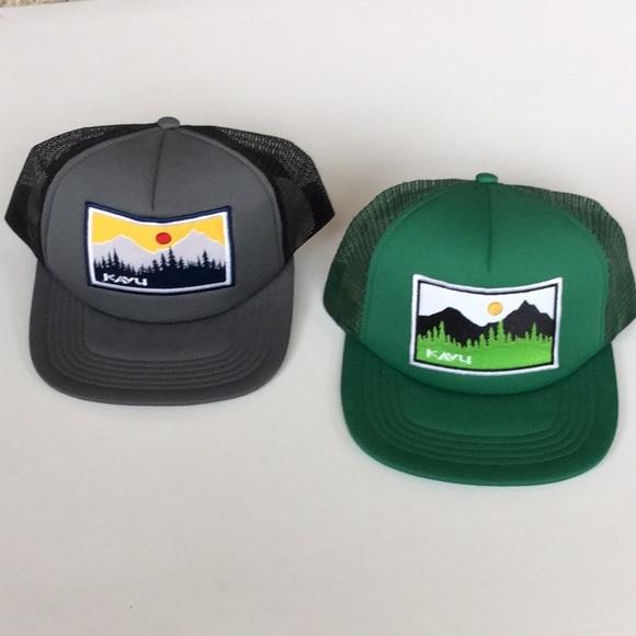83ef5765651d0 NWT KAVU Foam Dome Trucker Hats Bundle of 2